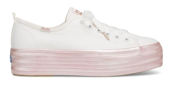 Zapatos Mujer Keds Triple Up Shimmer Cream