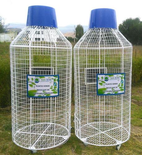 Imagen 1 de 7 de Tachos Para Reciclar Botellas Plásticas