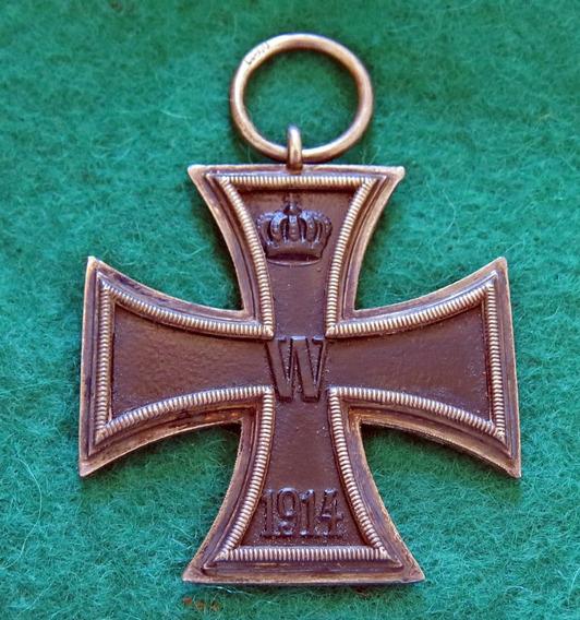 Medalha Cruz De Ferro Original Ww1 - 2ª Cl. Marcada Wilm