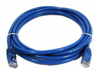 Cable De Red Armado Cat 5e 5 Metros Rj45 Interior Azul