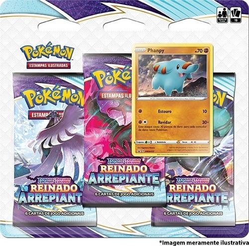 Imagem 1 de 2 de Card Game Pokémon Tcg Ee6 Reinado Arrepiante 3 Pack Phanpy