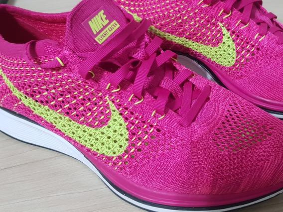 Tenis Nike Flyknit Racer Rosa Raríssimo