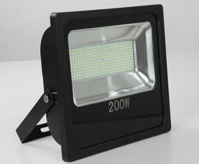 Refletor Led Slim 200w Luz Neutra Bivolt Ip65 Cristallux