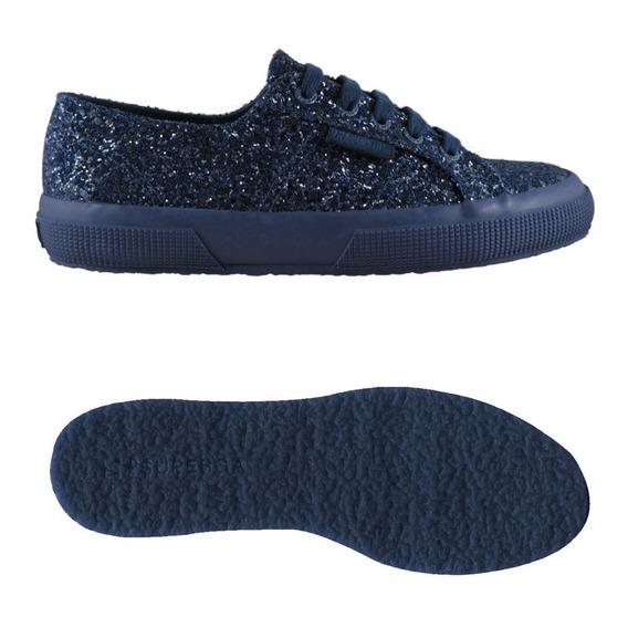 Zapatillas Mujer Azul Superga 2750 Macroglitter