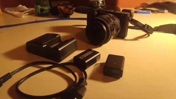Sony A6300+lente Canon 50mm 1.8+adaptador Comnlite+3baterías