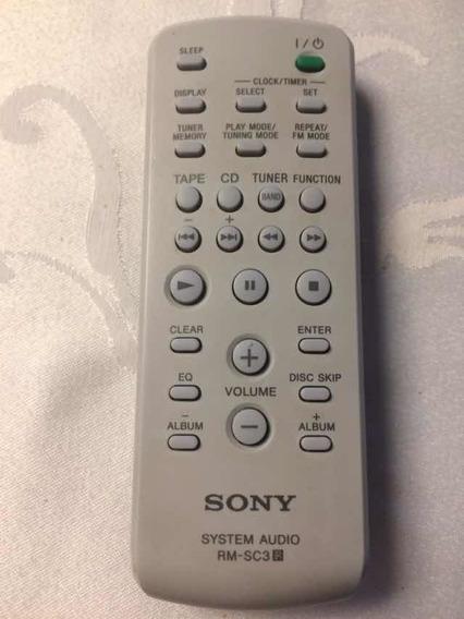Controle Remoto Sony Áudio System Rm-sc3 Em Perfeito Estado
