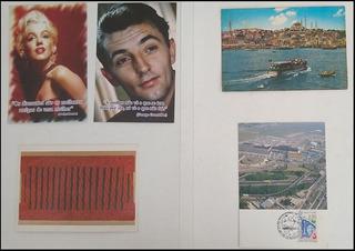 5 Cartões Postais Estrangeiros