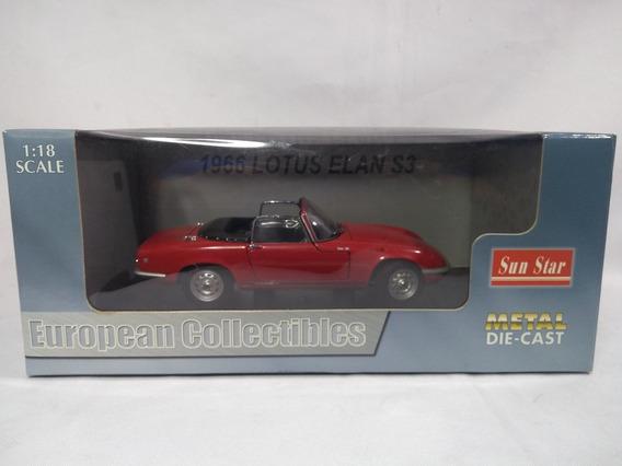 Lotus Elan S3 1966 Miniatura Escala 1/18 Sun Star Na Caixa
