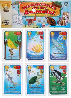 Memorama Animales Escolar Cartón 28 Pares