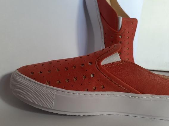 Zapatillas De Cuero Mujer