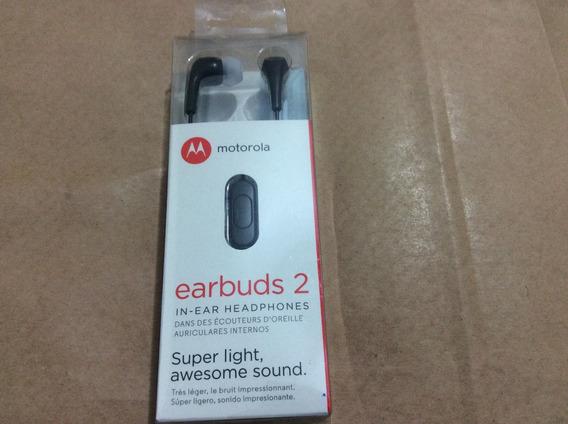 Fone De Ouvido Motorola Earbuds 2 (preto)