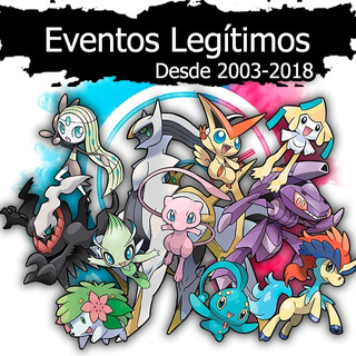 Pokémon Eventos Especiales Legítimos Sol, Luna, X, Y, Or, As