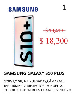 Samsung Galaxy S10+ 128 Gb Desbloqueado