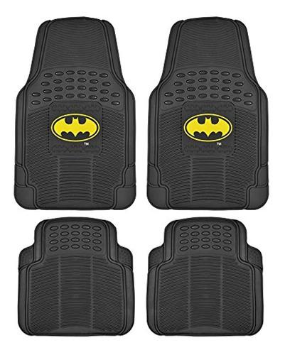Tapetes De Goma Para Coche Batman  Incluye 4 Unidades,