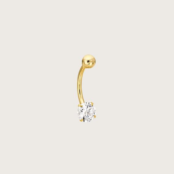 Piercing Em Ouro 18k (750) Com Zircônia