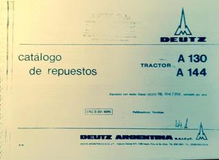 Manual De Repuestos Tractor Deutz A130 A144
