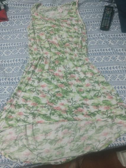 Vestido Floreado Nena Talle 12 Algodon Verano Sin Mangas