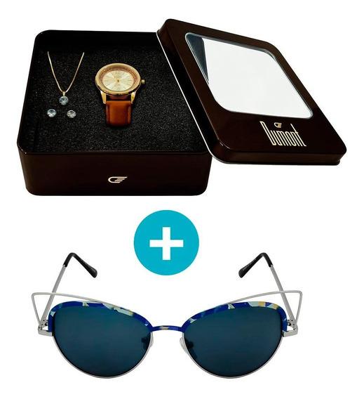 Kit Promocional: Relógio Dumont Feminino Analógico, Caixa 3,