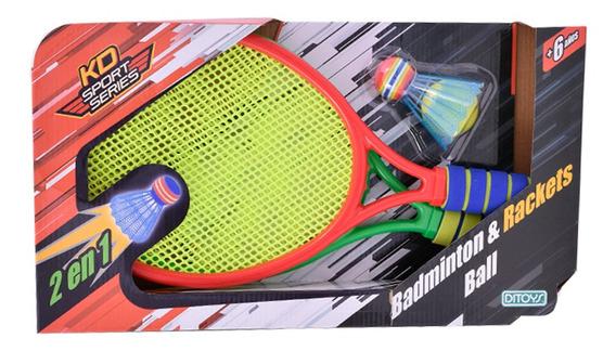 Juego De Raquetas Badminton & Rackets Ball Ditoys