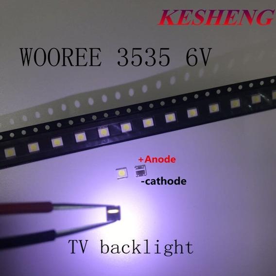 Kit 40 Led Smd Tv 3535 6v 2w Wooree Invertido