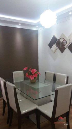 Imagem 1 de 23 de Apartamento Com 4 Dormitórios À Venda, 102 M² Por R$ 565.000,00 - Parque Industrial - São José Dos Campos/sp - Ap3497