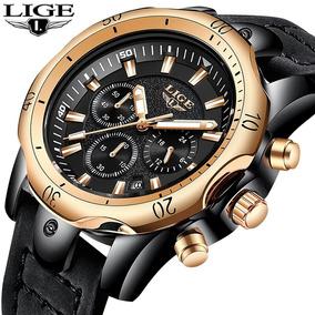 Relógio Lige Pulseira De Couro Original Na Caixa