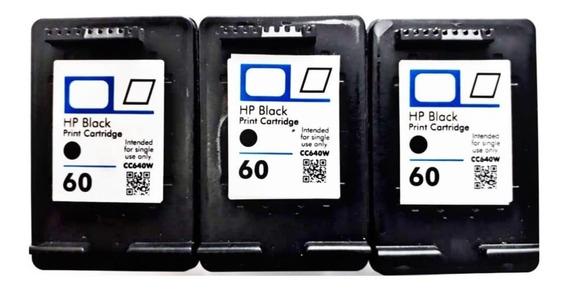 3 Cartuchos 60 Impressora F4280 F4480 C4680 D110 + Kit Recar
