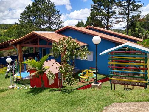 Imagem 1 de 13 de Encantadora Chácara Com Lago.cód 446.