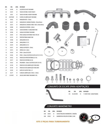 Kit Turbo F4000 Até 92 Mwm 229-4 Sem Turbo Boleto A Vista