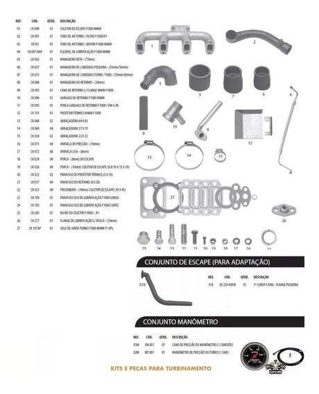 Kit Turbinamento F1000 F4000 Até 92 Mwm 229-4 Sem Turbo