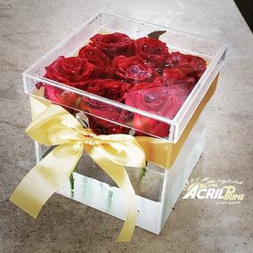 Caixa De Acrílico Para Rosas