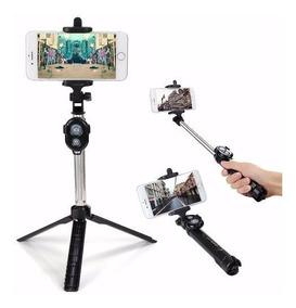 Pau De Selfie Monopod Tripe Bastæo Retrtil Celular Galaxy