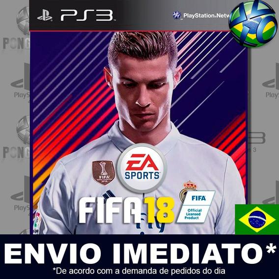 Jogo Ps3 Fifa 2018 18 Psn Play 3 Português Pt Br Envio Hoje
