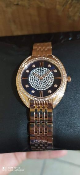 Reloj Roberto Bianci Para Dama, Dorado, Pedrería