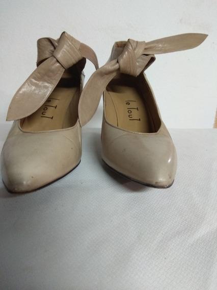 Zapatos De Cuero Con Lazo Le Tout