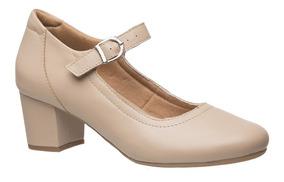 Sapato Feminino 287 Em Couro Ostra Doctor Shoes