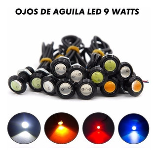 Ojos De Aguila Led Enroscables Para Facias Faros Nieblas Chip Smd Cob 23mm 9 Watts Super Brillantes Impermeables 12v