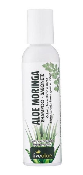 Shampoo E Sabonete Multifuncional Orgânico Aloe Moringa 120ml Livealoe