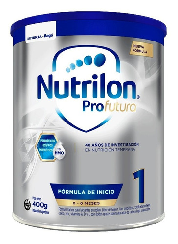 Nutrilon Profutura 1 Nueva Fórmula 0 A 6 Meses 400g Polvo