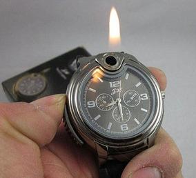 Relógio Militar Isqueiro Camping Sobrevivência Novidade