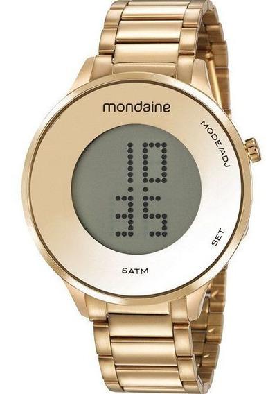Relógio Mondaine Feminino Dourado Digital 53786lpmvde1