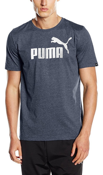 Remera Puma Essentials Heather - Hombre - Azul Melange
