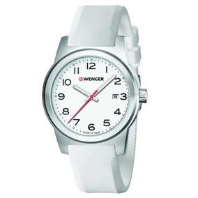 Reloj Dama Wenger Field Correa Goma Blanca