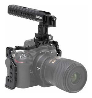 Initze Z6/z7 - Jaula Para Cámara Nikon Con Asa Superior Y