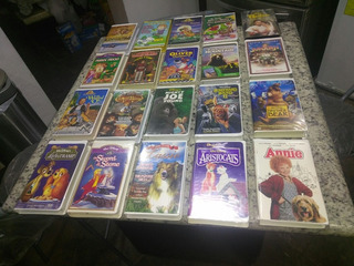 Disney Robin Hood Oliver & Company Películas Inglés Vhs Lote