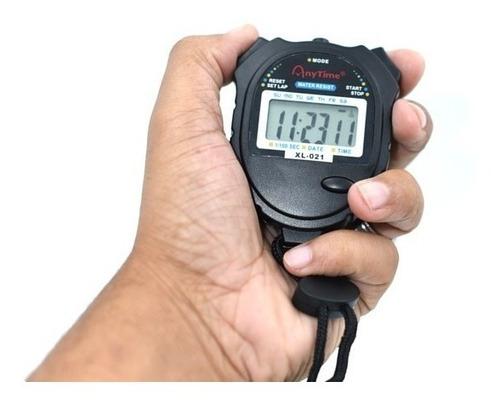Imagem 1 de 5 de Cronômetro De Mão Digital Corrida Alarme Hora