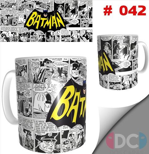 Taza Comics Coleccionable Batman Retro Dc Comics # 042