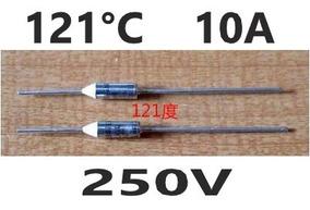 5 Fusível Térmico Microtemp 121°c 121 Graus 10a 250v Pc 5 Pç