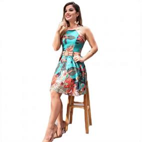 Vestido Festa Vintage Pinup Em Crepe Feminino 2019
