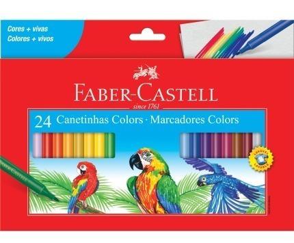Canetinhas De 24 Cores Hidrocor Faber Castell